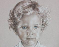 Custom Portrait Painting, Child Portrait Commission, Baby Kids Portraits