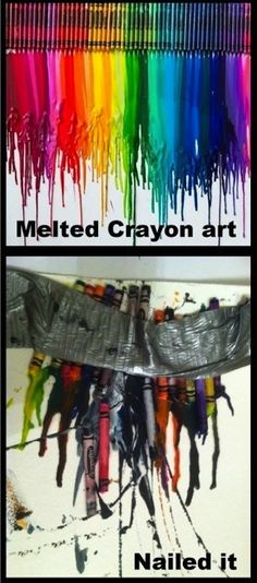 Melted Crayon Art: | 28 People Who Definitely Totally Nailed It
