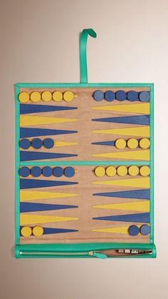 Leather Travel Backgammon Set