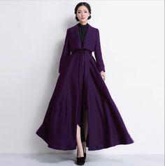 2013 Autumn Winter long design women's ultra long woolen coat overcoat slim large lapel thick woolen outerwear wool lacket - http://www.styliate.me/http://www.styliate.com/products/2013-autumn-winter-long-design-womens-ultra-long-woolen-coat-overcoat-slim-large-lapel-thick-woolen-outerwear-wool-lacket/