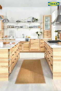 A Large Kitchen With Sektion Torhamn Natural Ash Doors Kitchen