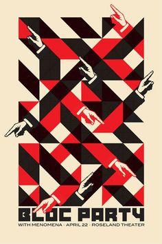 love bloc party and love this poster! Dan Stiles #Trendspirationscreenprint