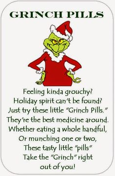 Ever Ready check out blog posting December 2, 2014 for a Grinchy type gathering