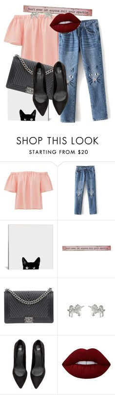 """""""Untitled #651"""" by pauloskompanieros on Polyvore featuring Rebecca Taylor, Natural Life, Chanel, Dogeared and Lime Crime"""