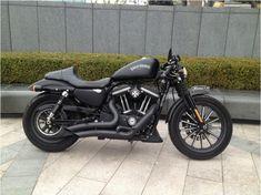 Harley Davidson Iron 883 Custom - copyright. '아이럽바이크' to Bike Tuning Mania Cafe