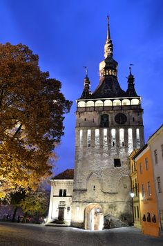 HISTORIC CENTRE OF SIGHISOARA, Romania: was built in the 12th century by Saxon colonists & exhibits architecture typical of medieval Germany.  It was the birthplace of Vlad III the Impaler & remains today an inhabited medieval citadel.