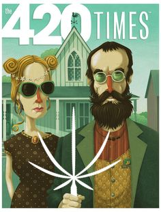 American Gothic High by Steve Simpson, via Behance