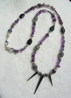 Amethyst Bohemian Opera Length Edgy Style by WholisticBlessings