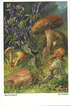 Gnome leisurely smoking