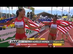 Kendell Williams wins 100m hurdles Junior Champs - Universal Sports