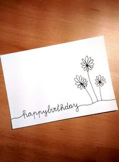 Happy Birthday - SketchNotes & Sk… - # everything… - birthday ideas - Diy Gifts Happy Birthday Hand Lettering, Calligraphy Birthday Card, Happy Birthday In Calligraphy, Handlettering Happy Birthday, Calligraphy Cards, Creative Birthday Cards, Birthday Card Drawing, Happy Birthday Drawings, Tarjetas Diy