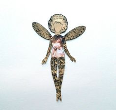 Fairy Bookmark, Novelty Bookmark, Handmade Bookmark, Fairy Paper doll, Paper…