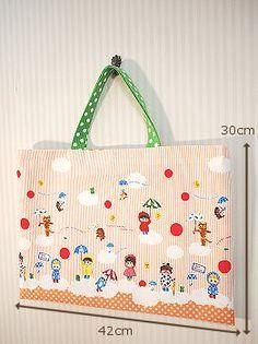 レッスンバッグの作り方 布切替なし - NUNOTOIRO Handmade Bags, School Bags, Diaper Bag, Needlework, Diy And Crafts, Pouch, Reusable Tote Bags, Purses, Sewing