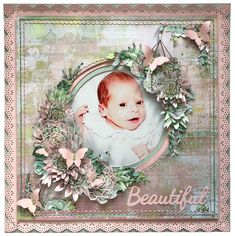 Here is a Layout I created for the Merly Impressions crop kit, I used the gorgeous Greenhouse Kaisercraft collection. Baby Scrapbook Pages, Scrapbook Page Layouts, Scrapbook Paper, Scrapbooking Ideas, Heritage Scrapbooking, Card Making Kits, Fancy Fold Cards, Greenhouse Ideas, Recipe Books