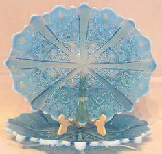 Love Blue, Blue Art, Vintage Glassware, Facebook Instagram, Uk Shop, Shades Of Blue, Glass Art, Art Gallery
