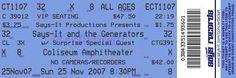 old school concert ticket generator. Perfect forhe wedding invites!