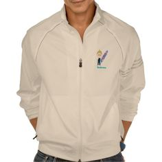 Boy surfer cartoon zip jacket