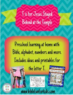 Preschool Alphabet: T is for Jesus at the Temple
