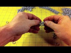 How to Make Helms Weave Chainmail - YouTube
