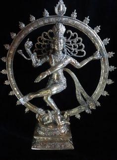 Siva Nataraja Dance God Brass Bronze Mix Statue Cern Suisse Spiritual Meditation…