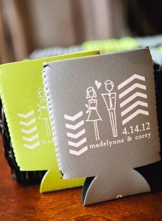 Add this adorable koozie to your wedding!