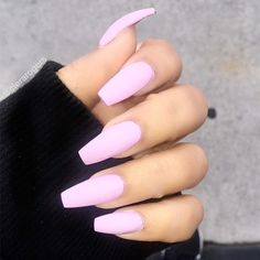 Nail Polish Gel Natural Nail Art Desnew nail designs on other girls' hands, we feel like our nail colors is dull and outdated. Best Acrylic Nails, Matte Nails, Acrylic Nail Designs, Gel Nails, Polish Nails, Baby Pink Nails Acrylic, Pastel Pink Nails, Pastel Purple, Acrylic Summer Nails Almond