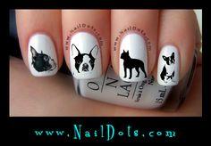 Boston Terrier Nail Decals
