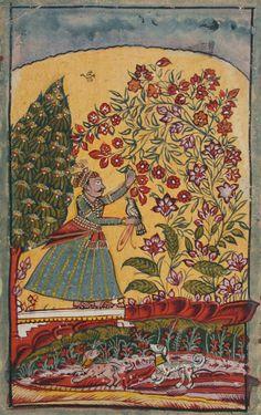 Likely from the 'Mysteries of Love: Maratha Miniatures of the Rasamanjari' Maratha, India. ca. e. 18th C.