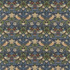 The Original Morris & Co - Arts and crafts, fabrics and wallpaper designs by William Morris & Company | Products | British/UK Fabrics and Wallpapers | Strawberry Thief (DM6F220313) | Archive Prints