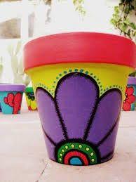 For deck pots. Paint ideas