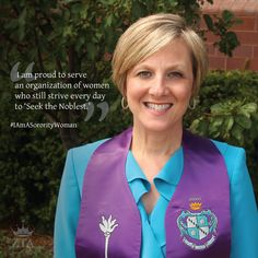 National President Carolyn Hof Carpenter lends her voice to the #IAmASororityWoman campaign. | via ΔΓ Anchors