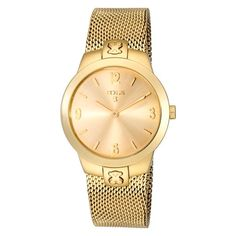 Reloj Tous B Face de mujer dorado en oro amarillo 500350305.