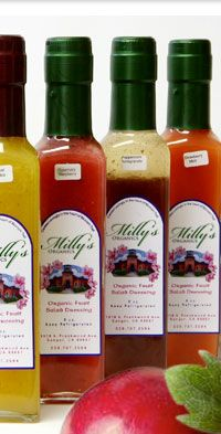 Milly's Organics offers organic fruit and fresh herb salad dressing in a variety of flavors. Milly's products are gluten free, have no salt added, and include no preservatives!