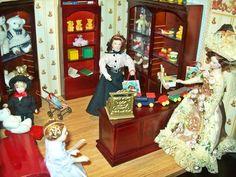 Puppenhaus Roombox Szene Display Spielzeugladen + Spielzeug + Puppen tabs-minis