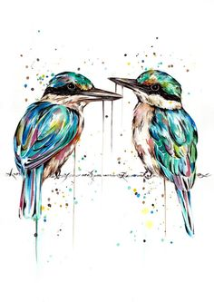 Kingfisher Tattoo, Kingfisher Bird, Watercolor Bird, Watercolor Animals, Watercolor Ideas, Animal Drawings, Drawing Animals, Bird Sketch, Different Forms Of Art