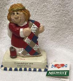 eddie-Walker-ANGEL-Midwest-Cannon-Falls-figurine-FRIENDSHIP-Quilter-Sewist-Sew