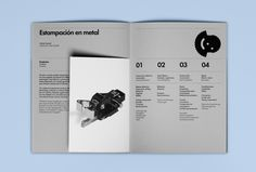 Brochure for Barcelona based cold stamping business Estampaciones Fuerte by Hey