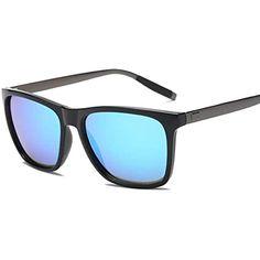 035bfdc46e Carsge Gafas de Sol polarizadas para Hombres Gafas de Moda con Montura de  Metal Rectangular Protección