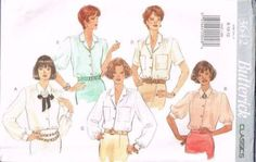 3642 Sewing Pattern Butterick Classics Ladies Blouse 8 10 12