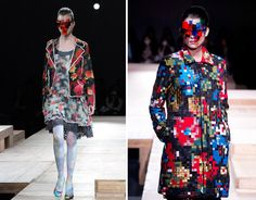 pixelated fashion by kunihiko morinaga of anrealage