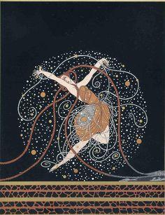 Zeus by Erte. Art Deco. mythological painting