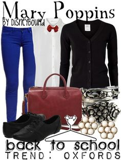 Mary Poppins by Disney Bound Fashion Disney Outfit love everything but the shoes