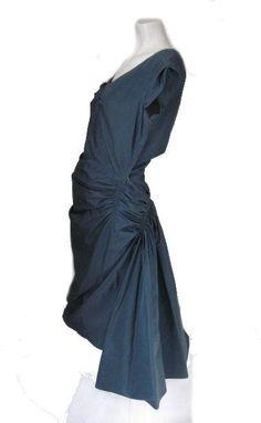 1940s Shark Cloth Dress by Madam Gres