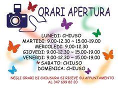 I nostri orari www.fotochiara.it