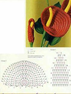 Watch The Video Splendid Crochet a Puff Flower Ideas. Phenomenal Crochet a Puff Flower Ideas. Bouquet Crochet, Crochet Puff Flower, Crochet Leaves, Crochet Motifs, Knitted Flowers, Crochet Flower Patterns, Crochet Patterns Amigurumi, Crochet Stitches, Crochet Books