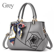 Handbags Solid Flowers Crossbody Bags Famous High Quality Leather Bags  Outlet European 2911b96326ed3