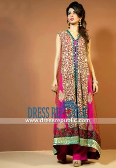 Buy Pakistani Designer Clothes Online Pink Party wear Online from