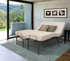 Electric Adjustable Beds Bed Frame Base Split King Motorized Steel 2 Remotes New #PF #Contemporary
