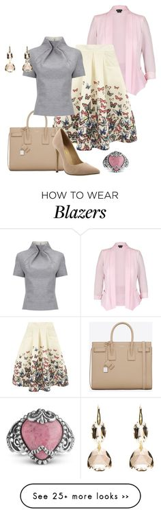 """""""Butterflies"""" by eva-kouliaridou on Polyvore featuring City Chic, Jolie Moi, Yves Saint Laurent, Liliana and J. JS Lee"""