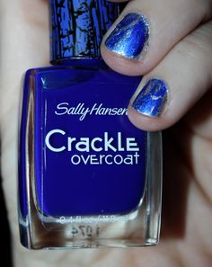 sally hanson silver covered by sally hanson blue crackle